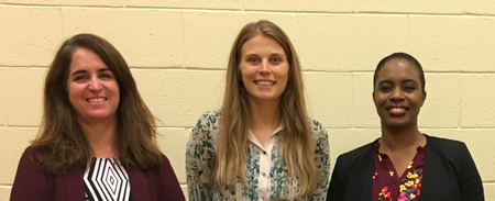 2018 Grant recipients, Amelia McLaughlin of Madison, Sarah O'Brien of Madison and Racquel Housen of Morristown
